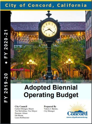 Image of cover of 2019-21 biennial operation budget report