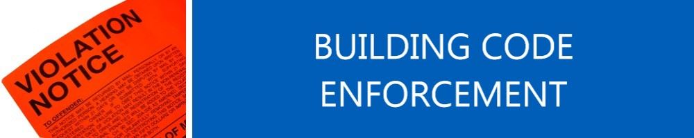 Image of Violation Notice titled Building Code Enforcement