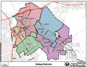 Voting district areas