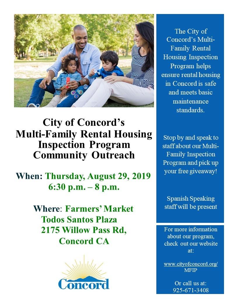Multi-Family Rental Housing Inspection Program | Concord, CA