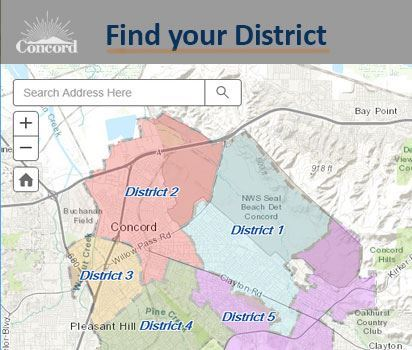 A Map of Concord Districts (California)