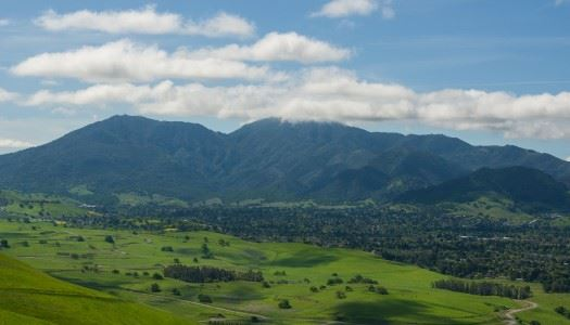 Mt. Diablo hills on sunny day with clouds