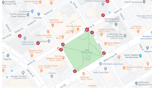 Map of Todos Santos Plaza