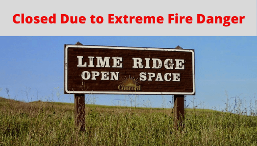 Lime Ridge Open Space Sign in the Park